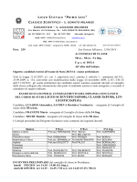 del corso di studi liceo scientifico(ps00), classico(pc00), lin