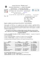 del corso di studi liceo scientifico(ps00), classico(pc00), lin