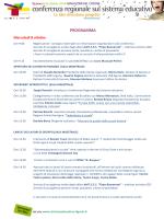 PROGRAMMA - Conferenza Regionale sul sistema educativo