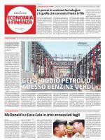 """Gela, addio petrolio. Adesso benzine verdi """"Giornale di"""