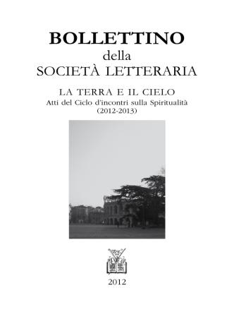 BOLLETTINO - Società Letteraria di Verona