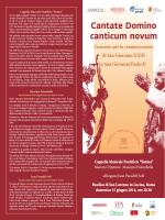 Programma concerto CantateDominumCanticumNovum