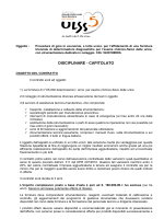 disciplinare-capitolato esame chimico fisico urine