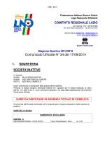 Comunicato Ufficiale N° 34 del 17/09/2014