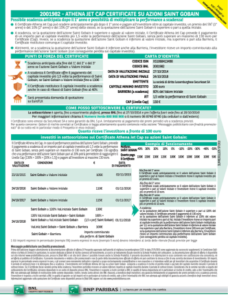 2001982 - athena jet cap certificate su azioni saint gobain