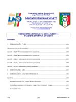 COMUNICATO UFFICIALE N. 64 Del 26/03/2014