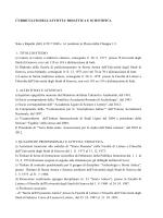 Curriculum e pubblicazioni 2014 - Università degli Studi di Genova