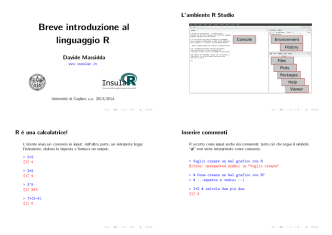 1em Breve introduzione al linguaggio R