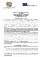Erasmus+ per traineeship bando 20142015