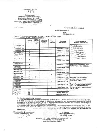 Avviamento Forestale richiesta Giugno 2014