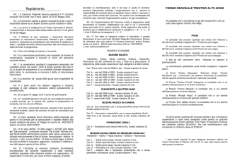 Bando Concorso Musicale 2014 - Consorzio Dimaro Folgarida