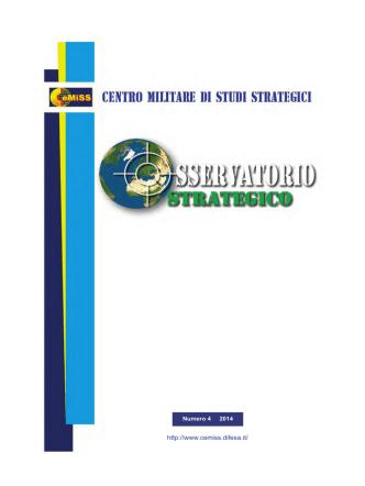 CeMiSS-Osservatorio Strategico 2014 numero 4