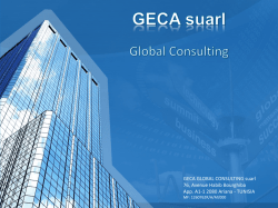 TUNISIA - GECA Global Consulting