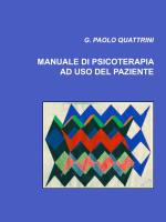 manuale di psicoterapia ad uso del paziente