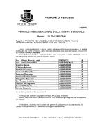 COMUNE DI PESCARA ASSESSORE ASSESSORE ASSESSORE