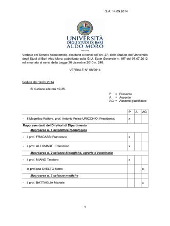08 verbale SA 14.05.2014 - Dipartimento per il coordinamento