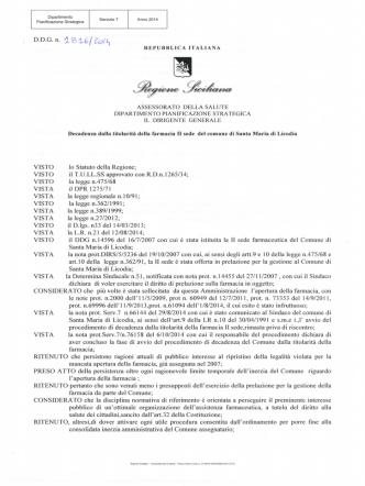 D.D.G. n. 1816 del 30 ott. 2014