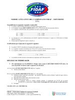 norme attuative del campionato fidaf – i divisione ifl regole di