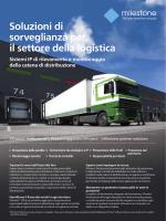 Soluzioni di sorveglianza per il settore della logistica