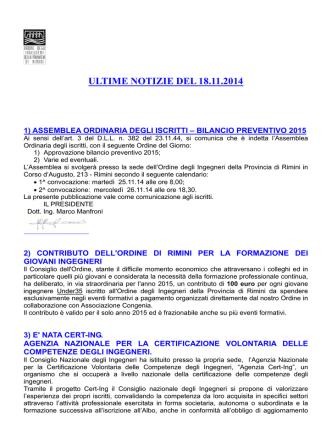 1422N_Novembre 18 14 - Ordine degli Ingegneri della Provincia