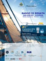 BANDO DI REGATA - Ponte sul Mare Adriatico