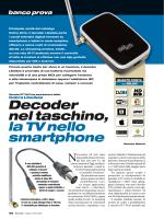 Decoder nel taschino, la TV nello smartphone
