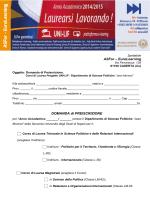 Modulo di preiscrizione - UNI-LIF