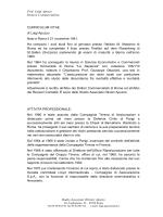 curriculum predisposto per Giarini