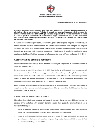 Decreto Interministeriale Miur-Mef prot. n.184 del 21 febbraio 2014