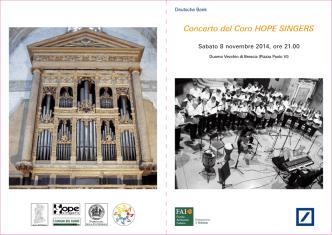 Concerto del Coro HOPE SINGERS