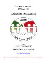 Programma 2014 - Uniti per Marone