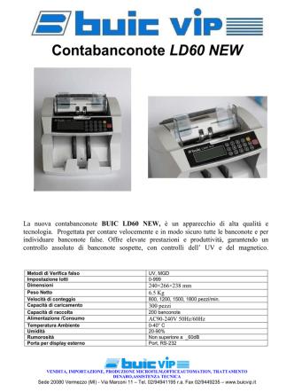 Contabanconote LD60 NEW