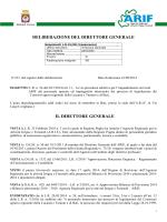 2014 09 16 233 Delibera - ARIF - Agenzia Regionale per le