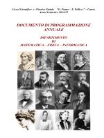 programmazione dipartimentale 2014-15
