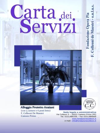 Carta dei Servizi - Fondazione Colleoni
