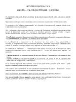 Algebra \ Calcolo Letterale \ Monomi, Polinomi - Levi