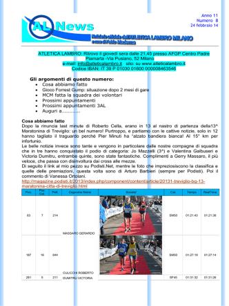 AL News - Atletica Lambro Milano