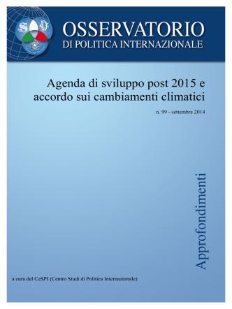 Agenda di sviluppo post 2015 e accordo sui cambiamenti climatici