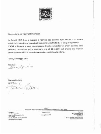 Convenzione Servizi Informatici AGAT-NEXT