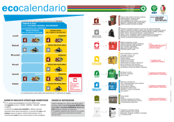 Calendario Raccolta Integrata Lido, Sassonia, Baia