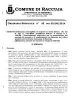 ordinanza sindacale n° 45 del 30/09/2014