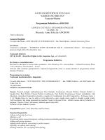 Venezia-Mestre Docente: Anna Felicita ANGIONI - G. Bruno
