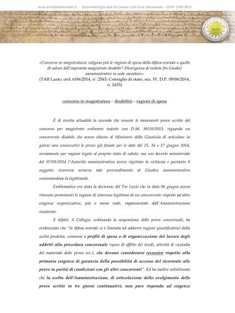 Concorso in magistratura - Dirittifondamentali.it