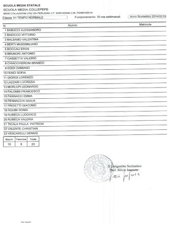 classi sede collepepe - Scuola Media