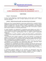 Regolamento Marketing Management 2013/14