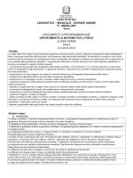 Programmazione Dipartimentale Fisica classi terze