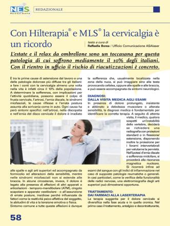 Con Hilterapia® e MLS® la cervicalgia è un ricordo