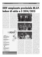 XXVI Campionato Provinciale MSP - Presentazione