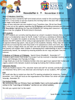Newsletter n 9 - November 3 2014 - International School of Modena