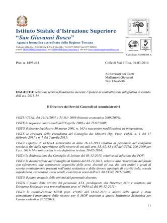 a.s. 2013-14 relazione tecnico finanziaria del dsga